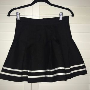 Black and white school girl skirt